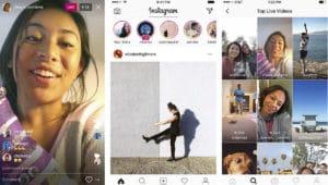 livestream sự kiện trên Instagram